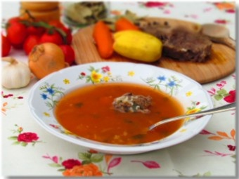 Croatian style beef broth