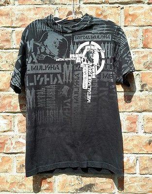 METAL MULISHA BLACK CLASSIC SKULL HELMET LOGO KID'S T'Shirt Boy's Size Small