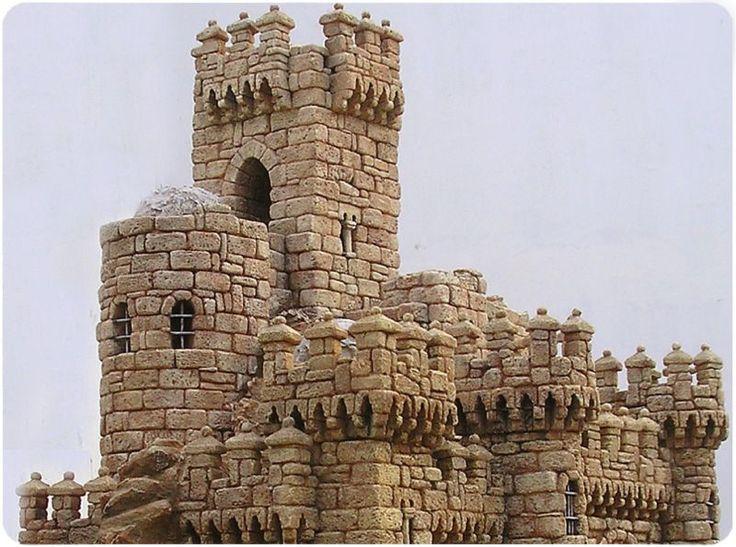 Castillo medieval, detalle. Colección particular