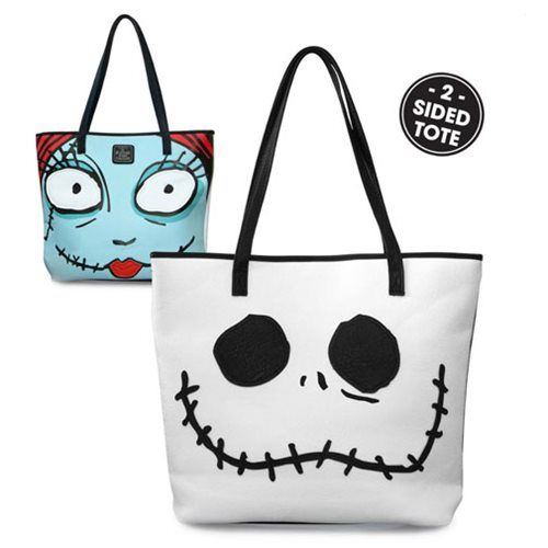 Nightmare Before Christmas Jack and Sally 2-Sided Tote Purse - Loungefly - Nightmare Before Christmas - Purses at Entertainment Earth