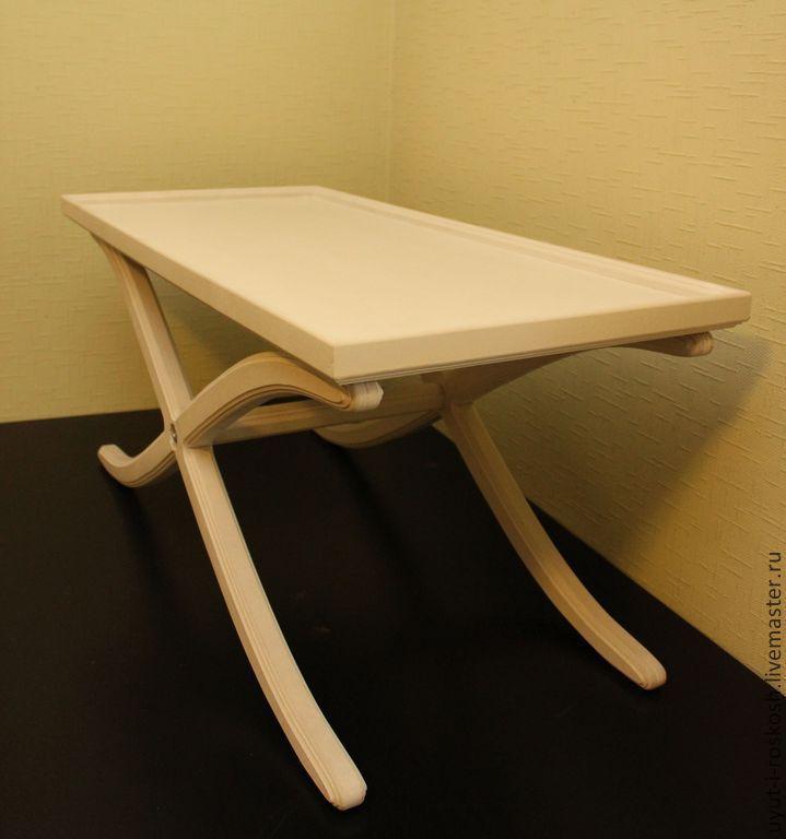 Купить столик для кофе - белый, столик, столик журнальный, Столик для кофе, Декупаж, роспись