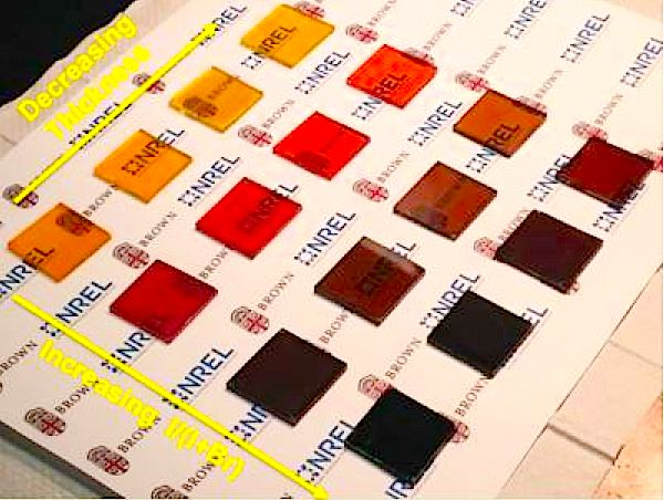 Colorful, transparent thin film perovskite solar cells from Brown University could be coming soon to a building near you (well, maybe in a few years or so)...