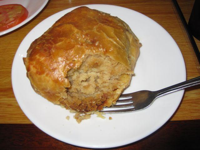 Potato knish from Carnegie Deli