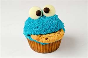 Not a biscuit, but it does depict the king of biscuits, Cookie Monster. Om nom nom.