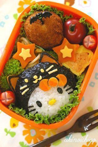 Halloween Hello Kitty Bento
