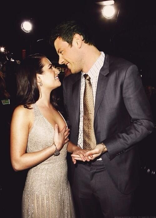 Awh Lea Michele and Cory Monteith will always be the cutest ever! #MoncheleMemories #M&M #Glee