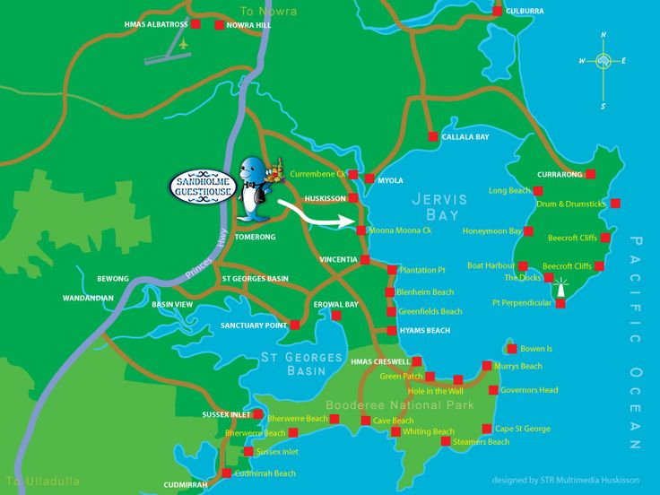 Jervis bay map