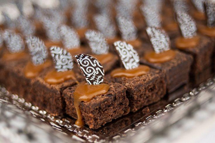 Brownies con manjar para matrimonio en Quillota.