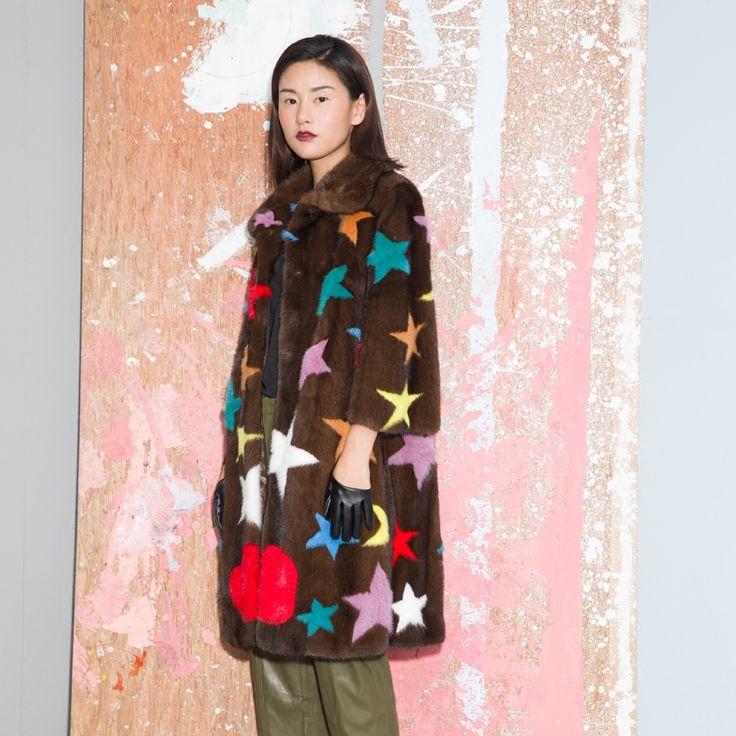 Elegante de las señoras de piel de visón auténtico abrigo largo, chaquetas de invierno de las mujeres, diseño de las estrellas de las mujeres de moda real abrigos de piel de visón marrón en Abrigos de Piel de Ropa y Accesorios de las mujeres en AliExpress.com | Alibaba Group