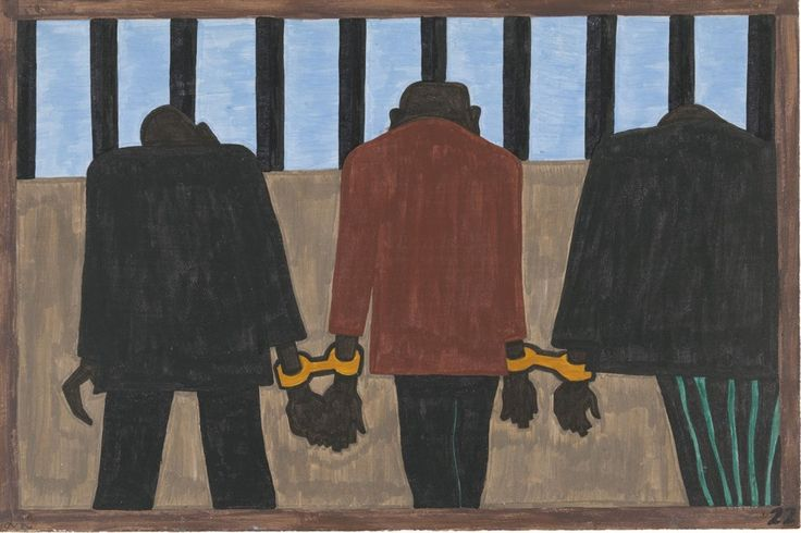 Jacob Lawrence. The Migration Series. 1940-41. Panel 22