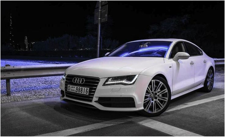 The Audi A7 is your ideal companion for a luxurious long drive.  #luxury #longdrive #audi #a7 #quattro #white