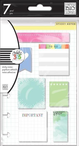 me&my BiG ideas The Happy Planner STICKY NOTES - MINI - 7 pads #memyBiGideas