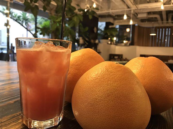 グレープフルーツジュース | 本町カフェMORNING GLASS COFFEE(モーニンググラスコーヒー)