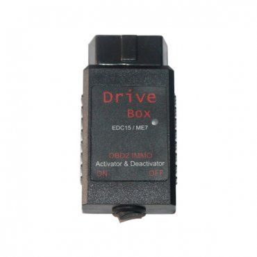 vag drive box bosch edc15/me7 obd2 immo deactivator corresponds to the Bosch control unis types EDC15 (Diesel) and ME7 (Patrol). The EDC15 control for diesel engines is installed in the models of brands VW, AUDI,SEAT and SKODA from 1999 onwards.