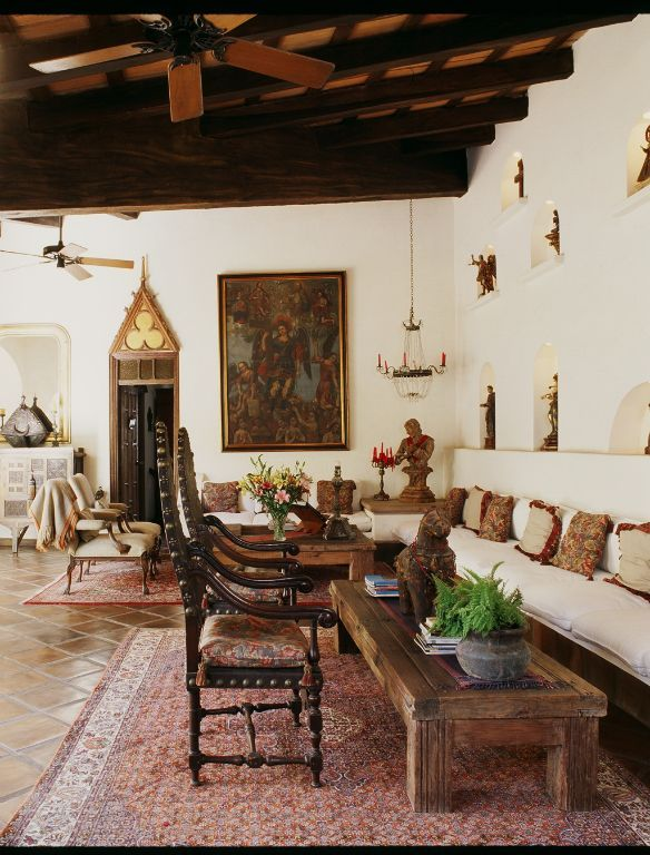 Mexican hacienda style decorating for Spanish hacienda style