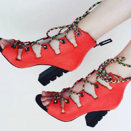 Kat Maconie Betsy Lace up Sandal Heels