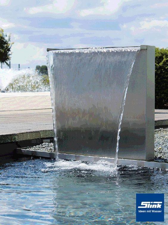 """Eleganter Garten-Wasserfall aus Edelstahl für den Teich oder ein Wasserbecken mit einer Breite von ca. 60 cm. Als Set inkl. passender 4000 l/h Pumpe und 3 m 1""""-Schlauch. Auf Wunsch bieten wir Ihnen gerne dazu noch ein passendes GFK-Wasserbecken dazu an. Continue reading →"""