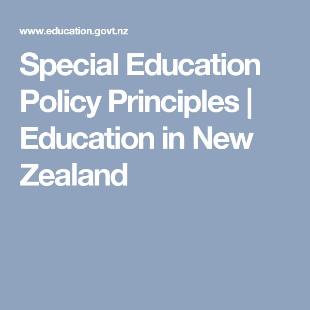 Special Education Policy Principles | Education in New Zealand