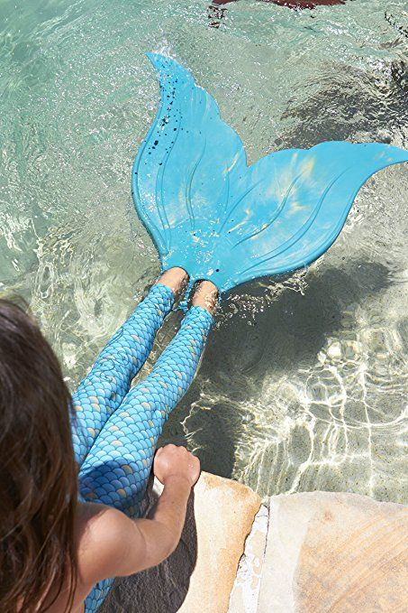 Amazon.com: Mahina Mermaid Adult MerFin Classic Swim Mono-Fin Costume, Medium, Aqua: Toys & Games