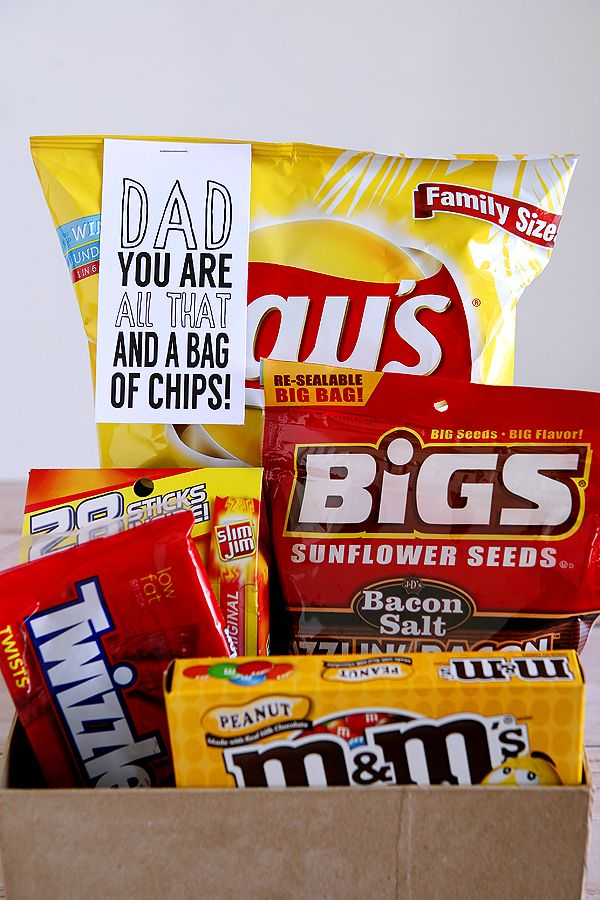 all that and a bag of chips father's day gift