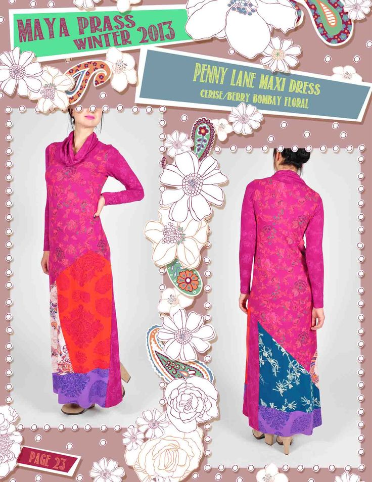Penny-Lane maxi dress berry Bombay Floral