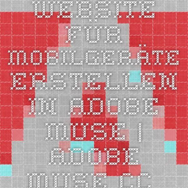 Website für Mobilgeräte erstellen in Adobe Muse | Adobe Muse CC– Training