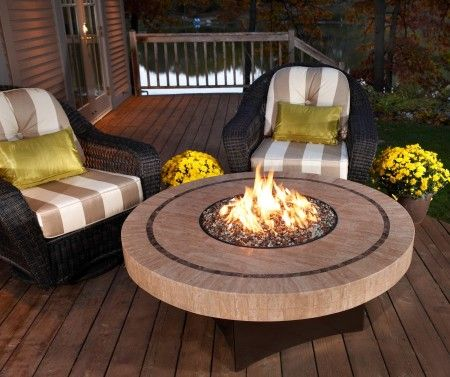 Gas Fire Pit Table 90,000 BTUs: Propane or Natural Gas