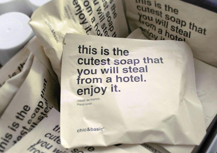 """""""Este es el jabón más mono que jamás robarás en un hotel. Disfrútalo"""" #packaging"""