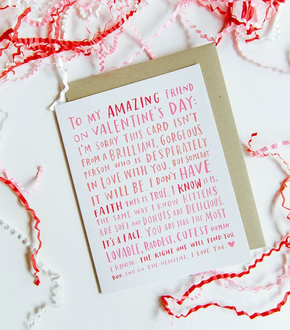 20 Cute And Funny Etsy Valentine's Day Cards For Your Best Friend