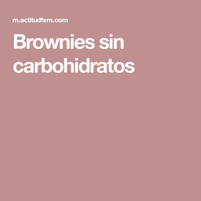 Brownies sin carbohidratos