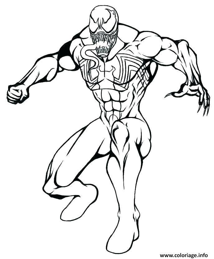 Coloriage Venom De Spiderman Mode Defense Dessin A Imprimer Art