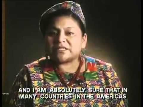 Rigoberta Menchú,  Premio Nobel de la Paz Guatemala-To be used before reading Patricia Va a Califronia or to be shown during a human rights unit