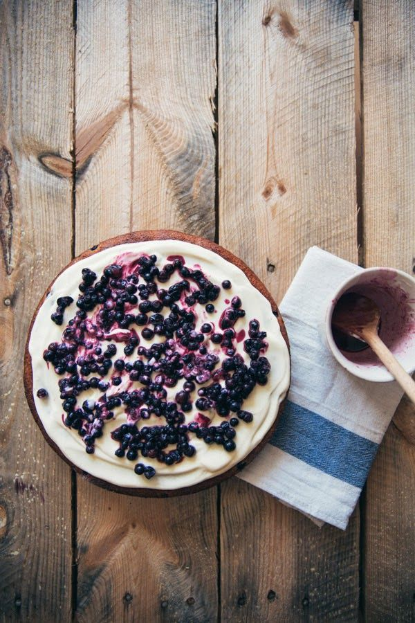 blueberry & lemon almond cake