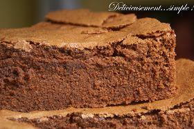 Non, non ce n'est pas le gâteau de ma grand-mère! Mais la recette du gâteau au chocolat que je rêvais de faire et que j'ai trouvé ( ici  ) ...