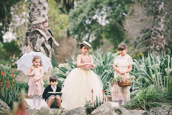 Australian Flower-girls and Page-boys  | Secret Garden Inspiration
