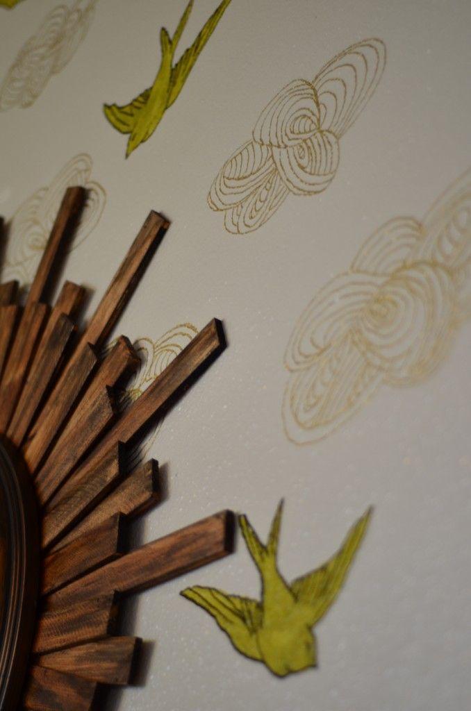 diy faux wallpaper - photo #25