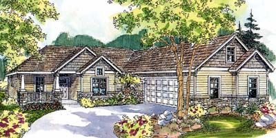 Ranch Style House Plans - 2223 Square Foot Home , 1 Story, 3 Bedroom and 2 Bath, 2 Garage Stalls by Monster House Plans - Plan 17-568