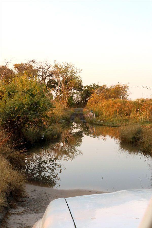River crossing at 3rd bridge Moremi.  4x4 for fun! info@discovermyafrica.com