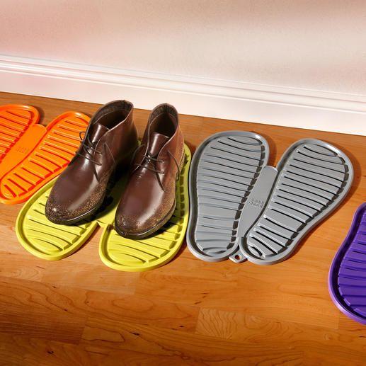 Flexibler Schuhabtropfer Der Schuh-Parkplatz für die ganze Familie. Beliebig zu kombinieren. Praktisch, dekorativ und farbenfroh.
