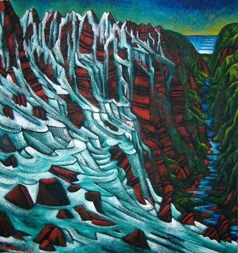 dean buchanan painting of waterfall - Google Search