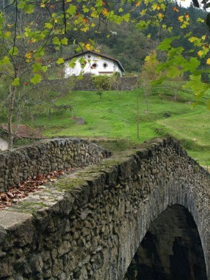 Rural Basque Country landscape.
