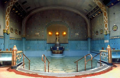 OMG this is where I was!!  Hotel Gellert hot thermal baths - Budapest