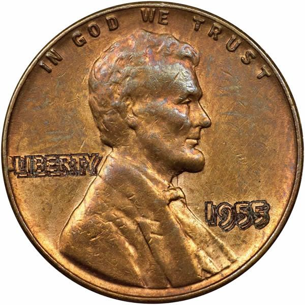 Counterfeit Fake 1955 Lincoln Cent Doubled Die Counterstamp Coin Community Forum Coins Old Coins Error Coins
