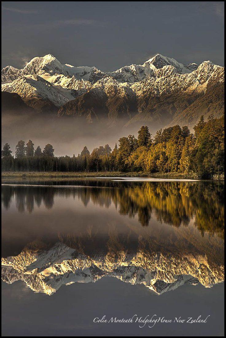 Lake Matheson  World Heritage New Zealand. Fox Glacier, Westland Tai Poutini National Park  Photo: Colin Monteath