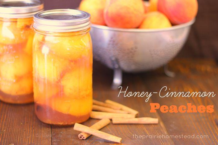honey cinnamon canned peaches