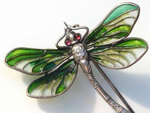 Plique a jour enamel dragonfly pin brooch. Suberbe Broche Ancienne Meyle Mayer ART Nouveau 1900 EN Argent ET Email | eBay