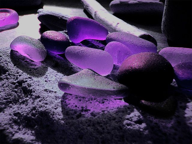 Wow. This is so pretty. I can't believe that this is real. I mean I've never seen purple sea glass before!