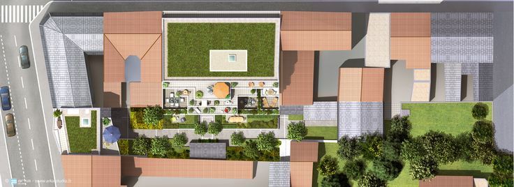 COGEDIM - Asniere wwwarka-studiofr Plan Masse pour lu0027immobilier - programme pour plan de maison
