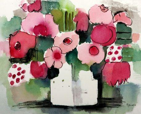 'Rosen abstrakt' von Anita Gewald bei artflakes.com als Poster oder Kunstdruck $23.37
