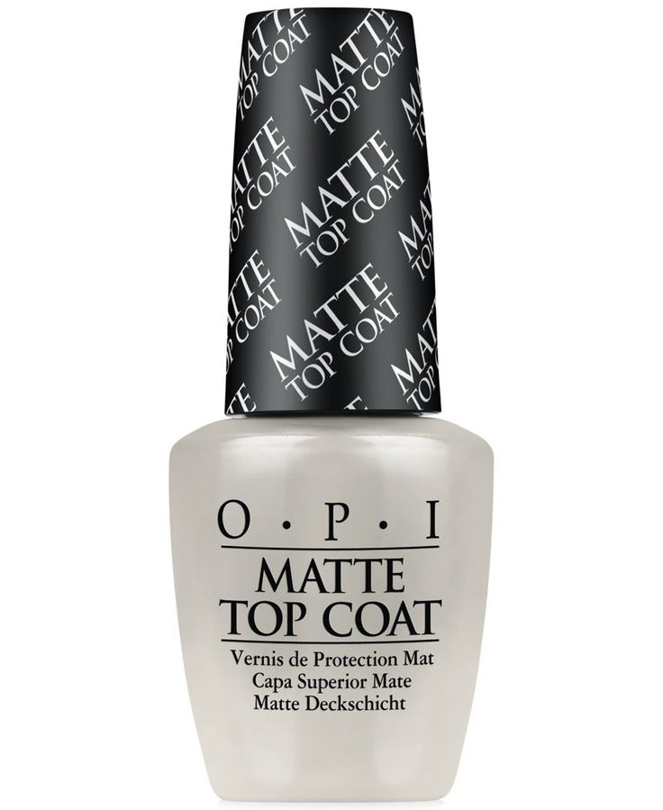 Dries to a protective, high-fashion matte finish. Creates an edgy look over any Opi shade. | This product will be delivered by Standard Ground Shipping and is not eligible for Premium or Overnight Shi